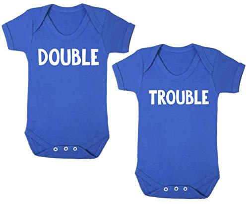 Body para bebé con diseño de doble trapo, para bebé, regalos de baby shower, color azul (0 – 3 meses)
