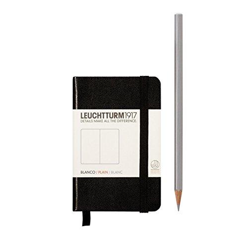 Leuchtturm1917 343568 Carnet Mini (A7), 169 pages numérotées, noir, blanc