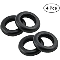 VORCOOL 4 pcs goma universal canoa kayak canoa Paddle Rings Paddle Splash Guards Kayak y canoa barcos de rames Paddle accesorio de repuesto (negro)