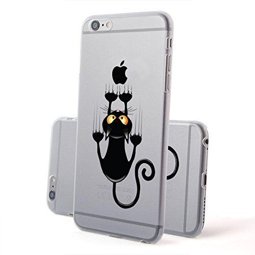 Motivo Serie 2 Custodia Rigida Iphone - Navy Legno, Iphone 7 Gatto corto