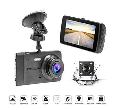 L-CAM Auto-Schlag-Nocken, Recorder-Doppellinsen-DVR-Auto USB-Monitor HD fahrend, das Bild aufhebt