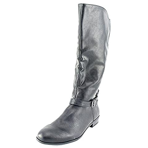 Style & Co. Women's Faee Mid-Calf Riding Boots, Black, Size