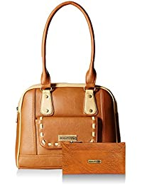 Fantosy Women Tan And Beige Handbag And Wallet FNB-436_327