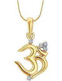 Myzevar 18K Yellow Gold And Diamond OM SHAKTI PENDANT
