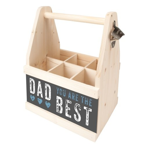 Contento Beer Caddy für 6 Flaschen, DAD YOU ARE THE BEST, Holz | CO-866646 | 4028126242209