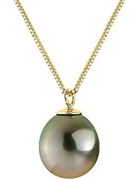 Pearls & Colors Halskette Venezianerkette 9 Karat (375) Gelbgold Tahitiperle 42cm, AM-9CT 103 P9J-TAH