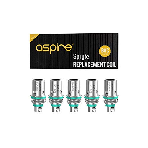 Aspire Spryte Ersatzspulen - 5er Pack - 1,2 Ohm (am besten für Salz-Nikotin) - Kein Nikotin oder Tabak