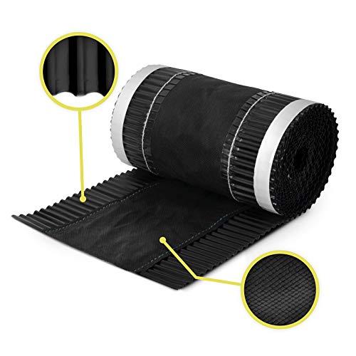 5m x 320mm Noir foncé closoir ventilé RAL 9005