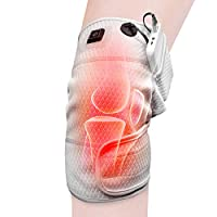 HIIMIEI Knee Heating Pad Wrap Heated Knee Brace,Therapeutic Electric Heating Pad W/Rechargable 3.7V 4000Mah Battery for Joint Pain, Arthritis Meniscus Pain Relief (3 Temperature Setting)