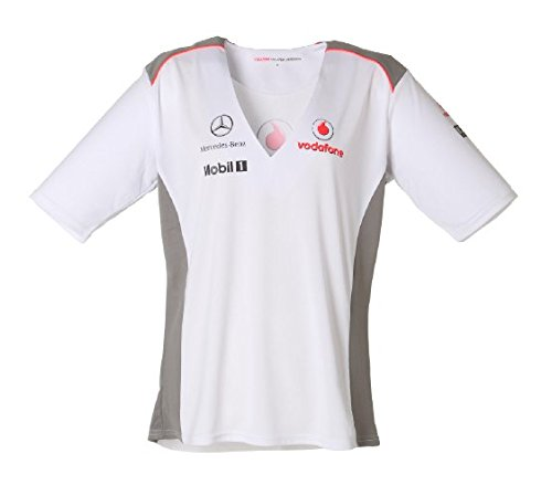 vodafone-mclaren-camiseta-team-blanco-xl