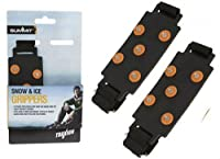 Unisex Traxion Velcro Snow Grips,Large,Black