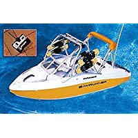 16 Water Sports Remote Control Yellow Wakeboarder Boat Swimming Pool Toy by Swim Central