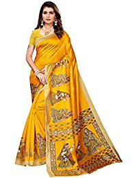 Anni Designer Women's Art silk with blouse piece Saree(Free Size)
