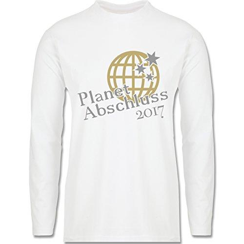 Abi & Abschluss - Planet Abschluss 2017 - Longsleeve / langärmeliges T-Shirt für Herren Weiß