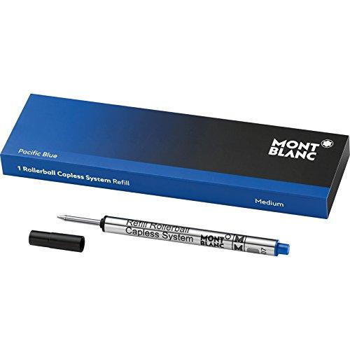 Montblanc Tintenroller Minen Pacific Blue 113778 / Blaue Ersatzmine für Roller Ball Capless System...