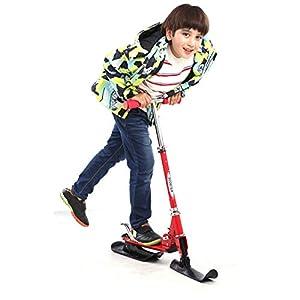 HECHEN Faltbare Skier 4-13 Jahre Alt-Eisschnee Zur Verfügung Stehende Eisenskiste-Schlittenbrett Kinderschlittschuhe