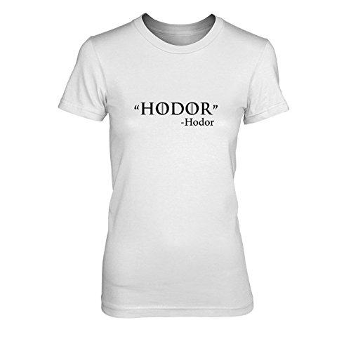 GoT: Zitat - Damen T-Shirt, Größe: XL, Farbe: weiß