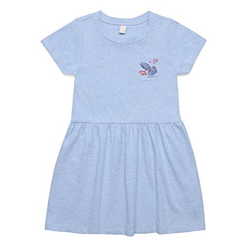 ESPRIT KIDS Mädchen RL3012302 Kleid, Blau (Light Heather Blue 406), 116 (Herstellergröße: 116/122)