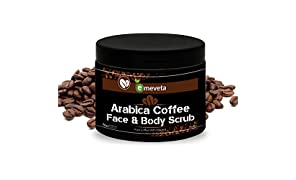 EMEVETA Arabica Coffee Face And Body Scrub With Pure Coffee And Vitamin E Extract | Tan Removal | Oily/Normal Skin | Paraben & SLS Free 100gm