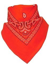 Bandana avec Motif Paisley orange
