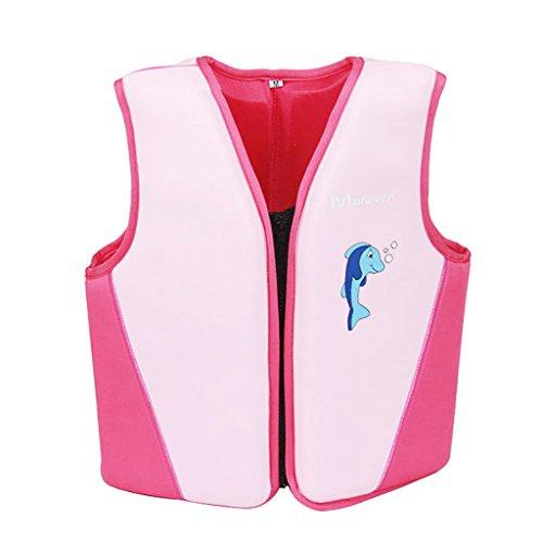 Ragazzi Ragazze Costume da bagno - Giacca da nuoto Gonfiabile Bambini Gilet di Galleggiamento Aiuti al Nuoto Allenamento di Nuoto Aids per Imparare a Nuotare Dimensione S M L
