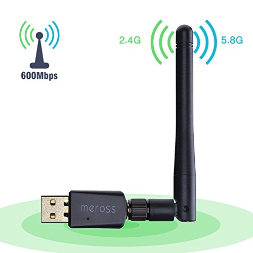Adaptador Antena WIFI USB de Largo Alcance 600Mbps de Victsing, wifi Adaptador Inalámbrico,Dual Band (5GHz 433Mbps / 2.4GHz 150Mbps) Con Antena 5dBi,Dongle Wifi,mini Receptor para Windows XP/Vista/7/8/8.1/10 MAC OS Linux