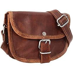 Handtasche aus Leder Gusti Leder nature 'Mary' Umhängetasche Damen Braun K36