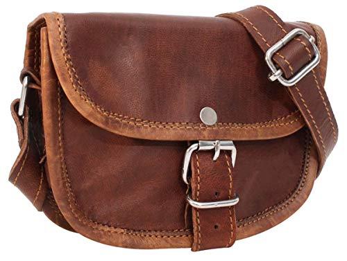 Handtasche aus Leder Gusti Leder nature 'Mary' Umhängetasche Damen Braun K36 -