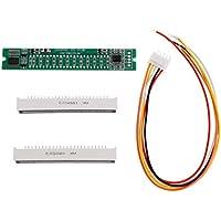 GROOMY Mini indicador de 12 Niveles VU Meter Tablero del Amplificador estéreo Luz Ajustable Tablero de Velocidad con Modo AGC Kit de Bricolaje