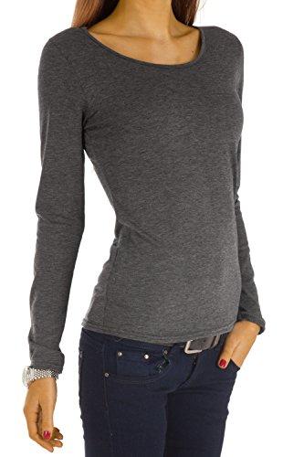BestyledBerlin débardeur femme, blouse, manches longues, débardeur t30x Navy