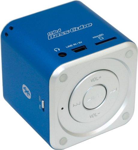 Jaytech 77002424 Bluetooth Mini Bass Cube aktiv-Lautsprecher (1 Stück, 3,5mm Klinke, 3 Watt, USB) Cube Mp3