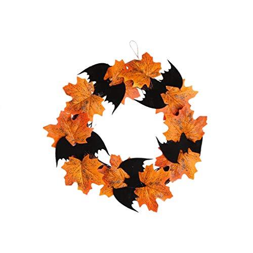 Halloween Kränze - Halloween Dekoration Fledermaus Kranz Anhänger Fenster
