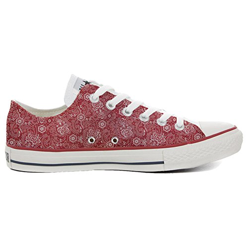 Converse All Star Chaussures Coutume (produit artisanal) Red Paisley