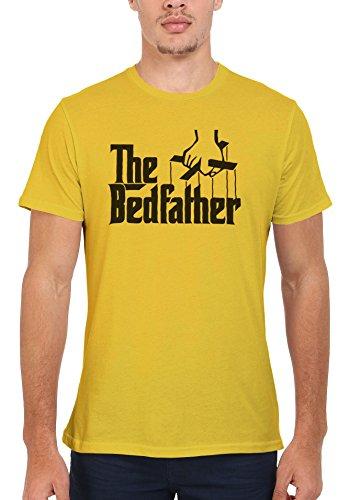 The Bed Father Cool Funny Men Women Damen Herren Unisex Top T Shirt Licht Gelb