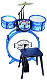 Bontempi–525602–Akku 3Trommeln + Pflanzstab Elektronische, 525602, weiß blau