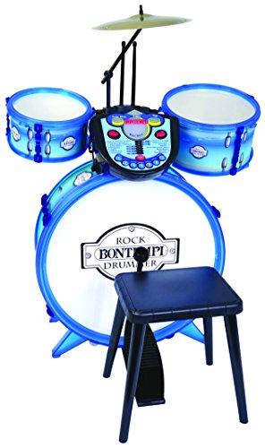 Bontempi-525602-Akku 3Trommeln + Pflanzstab Elektronische, 525602, weiß blau