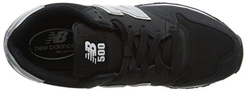 New Balance Gm500v1, Baskets Homme Noir (Black/silver)