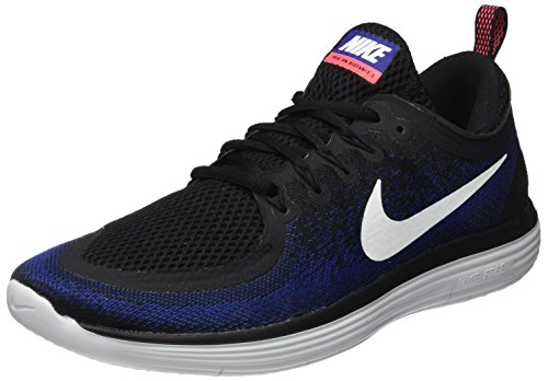 Nike Herren Free RN Distance 2 Laufschuhe Mehrfarbig (Black/White/deep Royal Blue/hot Punch) 44 EU