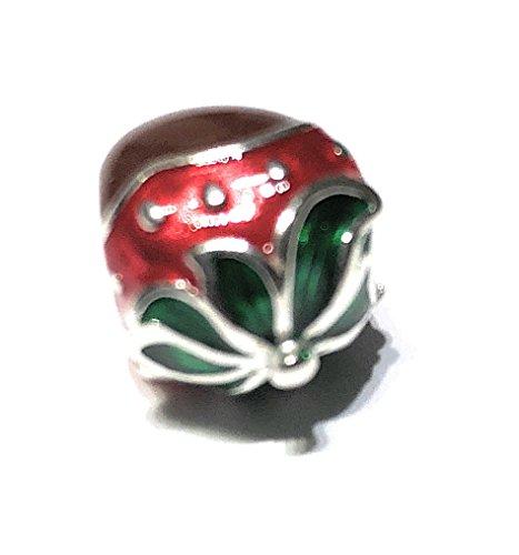 86d6d62cfdfd Chamilia Abalorio Plata 925 Red Green and cocoa Enamel 2020 – 1101