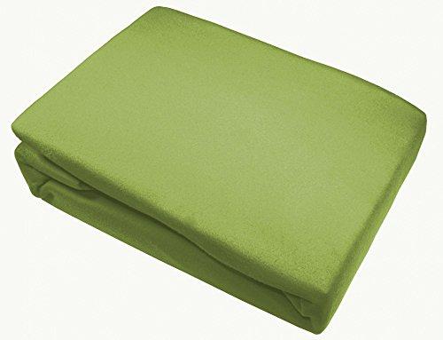 BFW 2er Pack Microfaser Kuschel Fleece Spannbettlaken Spannbetttuch Bettlaken Laken 100 x 200