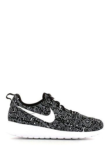 Nike Wmns Roshe One Print Prem, Zapatillas de Deporte Para Mujer, Blanco (Black/White), 43/44 EU