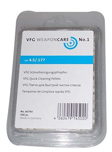 Flachberg Filz Laufreiniger 4,5 mm VFG Schnellreinigungspfropfen (500 Stück) Luftgewehr Luftpistole 4.5mm Filzlaufreiniger