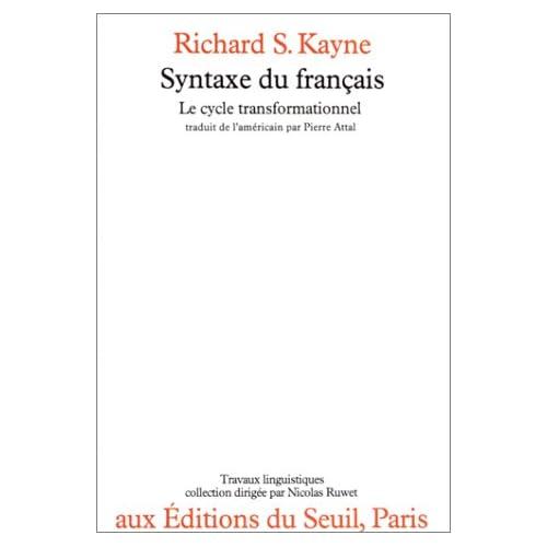 Syntaxe du français : Le cycle transformationnel