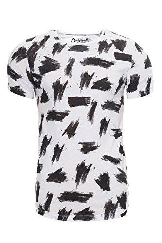 JACK & JONES Herren T-Shirt Jorbrushed Tee Ss Crew Neck Cloud Dancer