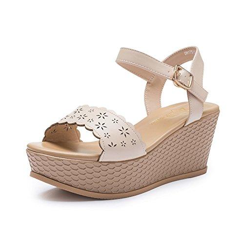 Mesdames Été Talons Hauts, Slope Et Random Chaussures Décontractées, Les Étudiants À L'extérieur De La Boucle De Mot Chaussures A