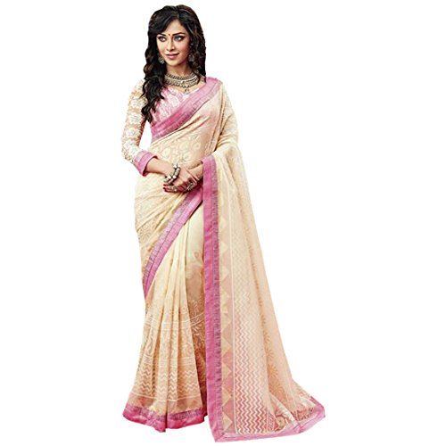 Radhika Sarees Brasso Saree (Rs_3688_Ghostwhite_Off-White)