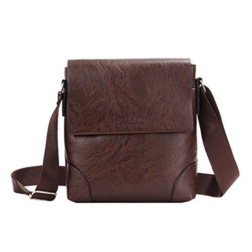 Amelia Rose London ,  Jungen Herren Damen Unisex Erwachsene Mädchen Umhängetaschen Small Dark Brown Bag