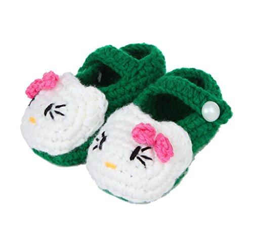 Bigood Chausson Bébé au Crochet Chaussure Premier Pas Marche Chat Minion