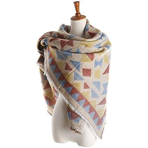 RUIRUI Calda sciarpa di Cashmere stampa geometrica