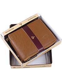 Woodline Tan Men's Leather Wallet (WL Tan Round Chain GD)